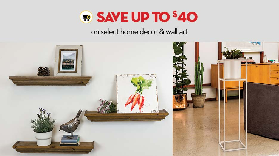 Save up to $40 on home decor & wall art