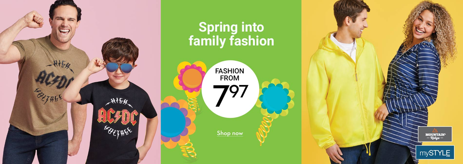 Spring into family fashion from 7.97
