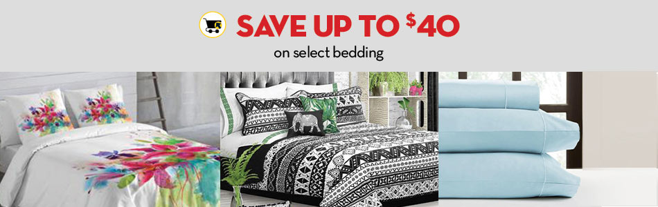 Save up to $40 on select bedding