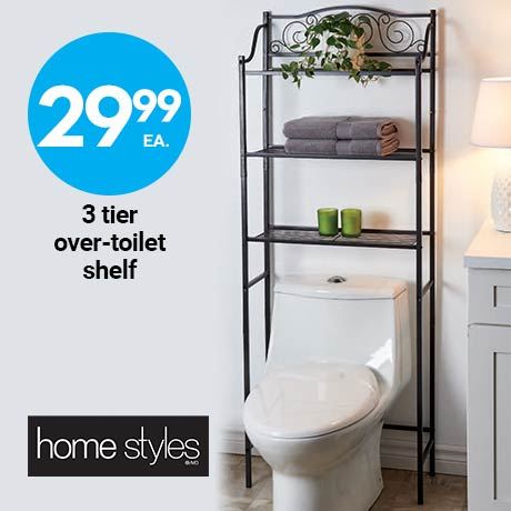 29.99 3 tier over-toilet shelf