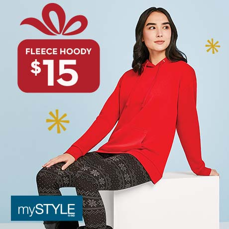 mySTYLE $15 Fleece hoody