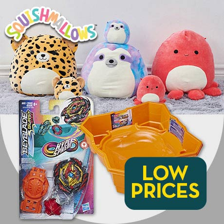 Low prices on toys