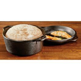 Lodge Cast Iron Double Dutch Oven - 5qt