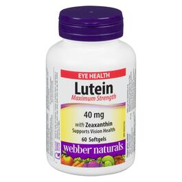 Webber Naturals Maximum Strength Lutein with Zeaxanthin 40 mg - 60 Softgels