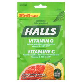 Halls Supplement Assorted Citrus Lozenges - 30pk.