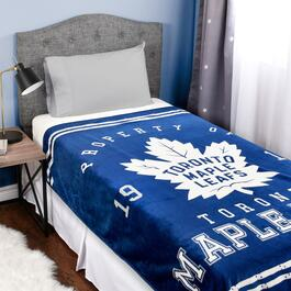 NHL Toronto Maple Leafs Luxury Velour Throw Blanket - 60in.