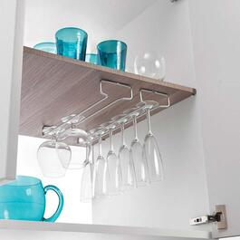 Metaltex RAIL Undershelf Wine Glass Rack - 41cm