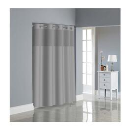 Hookless Dobby Texture Shower Curtain with PEVA Liner - Drizzle Grey