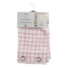 Red Checkered Sheer Curtain Panel - 84in.