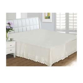Home Secret Eyelet Lace 400 Thread Count Bed Skirt - Twin Size