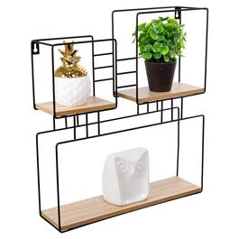 Truu Design Black Decorative Square Wall Shelf - 17in.