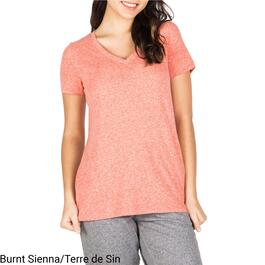 mySTYLE Women's Relaxed Fashion V-Neck Nubby Tee - S-XL