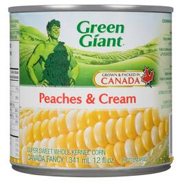 Green Giant Peaches and Cream Super Sweet Whole Kernel Corn - 341ml