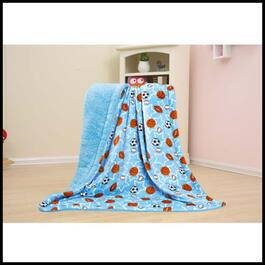 Borrego Rich Fleece Balls and Stars Kiddie Throw