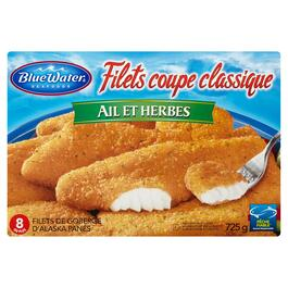 BlueWater Seafoods Classic Garlic and Herb Cut Fillets - 725g