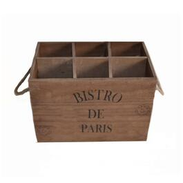 Danson Décor Paulownia Wood Wine Bottle Crate