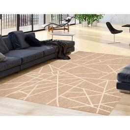 eCarpetGallery Sisal Abstract Taupe Area Rug