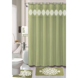 Nova Home Collection Green Non-Slip Bath Set - 18pc.