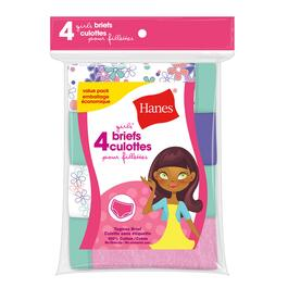 Hanes Girls Brief - 4pk.