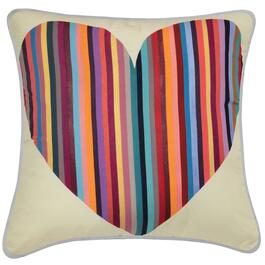 Jess Gorlicky Rainbow Heart Cushion - 18in.