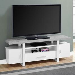 Monarch Specialties  TV Stand - White Cement-Look