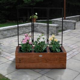 Grapevine Urban Garden Brown Recycled Wood Planter with Trellis