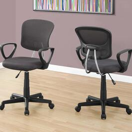 Monarch Specialties Grey Mid-Back Juvenile Office Chair