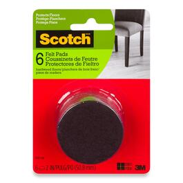 Scotch Round Felt Pads - 6pk.