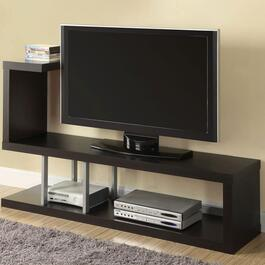 Monarch Specialties Inc. Contemporary TV Stand - Cappuccino