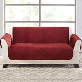 surefit Elegant Pick Stitch Paprika Loveseat Furniture Cover