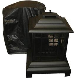 Paramount Black Vinyl Outdoor Pagoda Fire Pit Cover