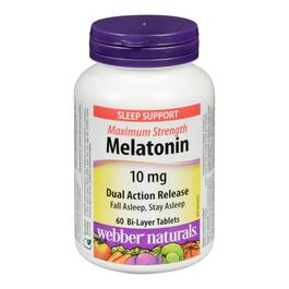 Webber Naturals Melatonin 10 mg - 60 Tablets