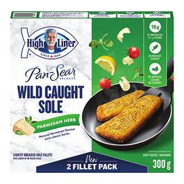 High Liner Pan-Sear Parmesan Herb Wild Caught Sole - 300g