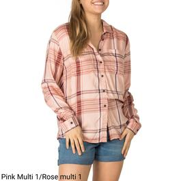 mySTYLE Women's Twin Printed Plaid Shirt - S-XL