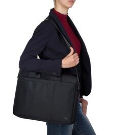 Rivacase Black Laptop Bag - 15.6in.