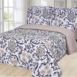 Dream Bedding  Reversible King Quilt and Sheet Set - 6pc.