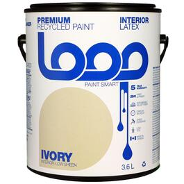 Loop Ivory Interior Latex Premium Recycled Paint - 3.8L