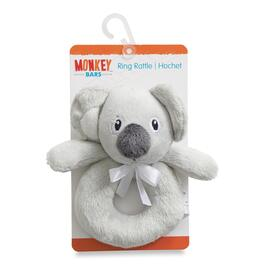MONKEY BARS Infant Grey Ring Rattle Koala Bear Toy
