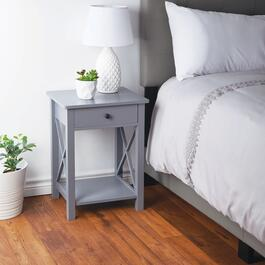 HomeStyles Grey Bedside Table with Drawer