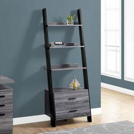 Monarch Specialties Ladder Bookcase - Black - 69in.