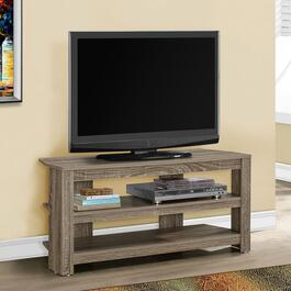 Monarch Specialties Inc. Corner TV Stand - Dark Taupe