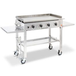 Blackstone Stainless Steel Outdoor Flat Top Gas Grill Griddle Station - 36in.