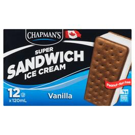 Chapman's Super Vanilla Ice Cream Sandwiches 12pk. - 120ml