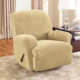Surefit Stretch Piqué Cream Slipcover for Recliner - 1pc.