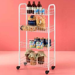 Metaltex Pisa 4 Tier Rolling Cart