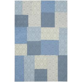 ecarpetgallery Handmade Light Blue Collage Rug - 8ft.