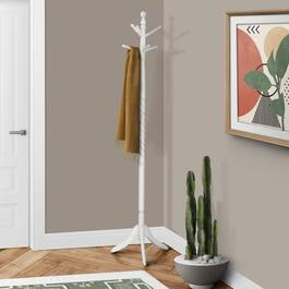 Monarch Specialties Inc. Traditional Style Coat Rack - Antique White