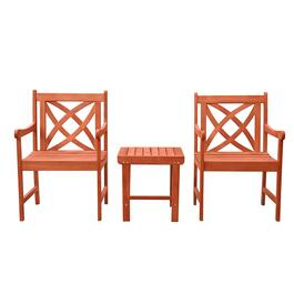 Vifah Malibu Outdoor Patio Dining Set - 3pc.