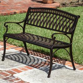 Patioflare Perry Cast Aluminum Park Bench - 40.6in.