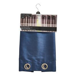 HomeStyles Blue Faux Silk Curtain Panel - 84in.